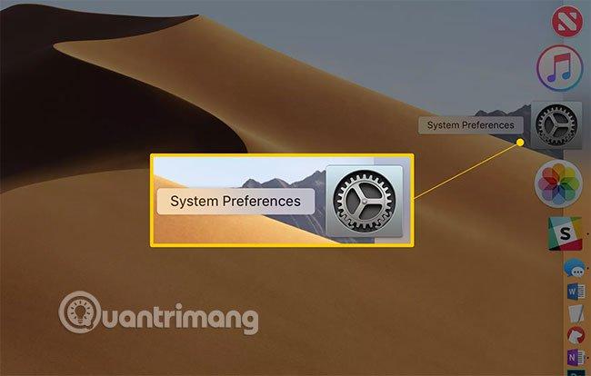 Vào System Preferences