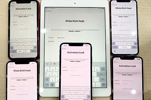 Cả loạt đồ Apple của khách hàng Việt Nam bị khóa iCloud dù chưa sử dụng. Ảnh: Thế Hoàng