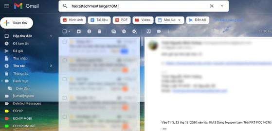 3 mẹo lấy lại dung lượng lưu trữ trên Gmail - 4