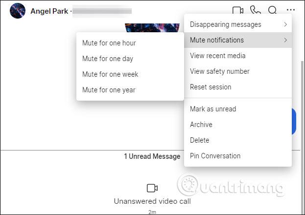 Tùy chọn đoạn chat