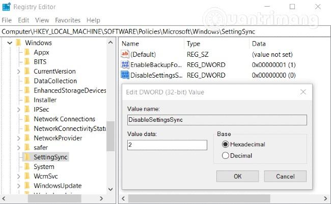 Sử dụng Registry để kích hoạt tính năng đồng bộ nội dung