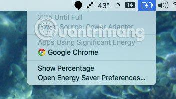 Chrome làm cạn kiệt pin MacBook