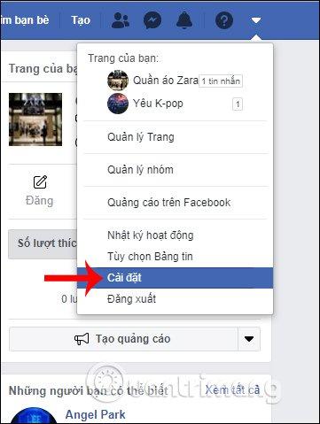 Cài đặt Facebook PC
