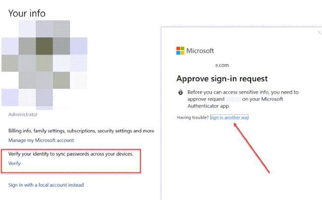 Xác minh tài khoản Microsoft